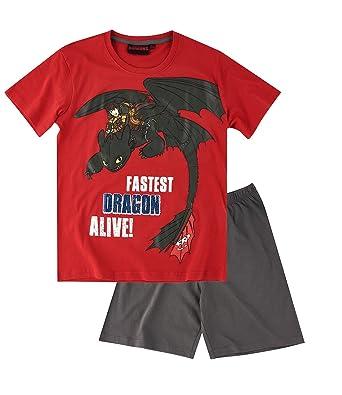 0f5b18a973 Dragones Chicos Pijama mangas cortas - Rojo - 152  Amazon.es  Ropa y  accesorios