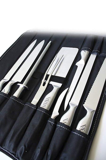 Pradel Excellence - Estuche con Juego de Cuchillos de Cocina de Acero Inoxidable, 9 Piezas
