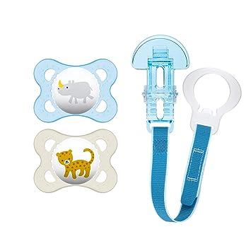 Amazon.com: MAM animales 3 piezas ortodoncia chupete con ...