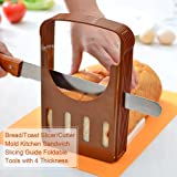 Bread Toast Slicer for Kitchen Sandwich Cutter Mold Foldable Tool with 4 Slice Thickness