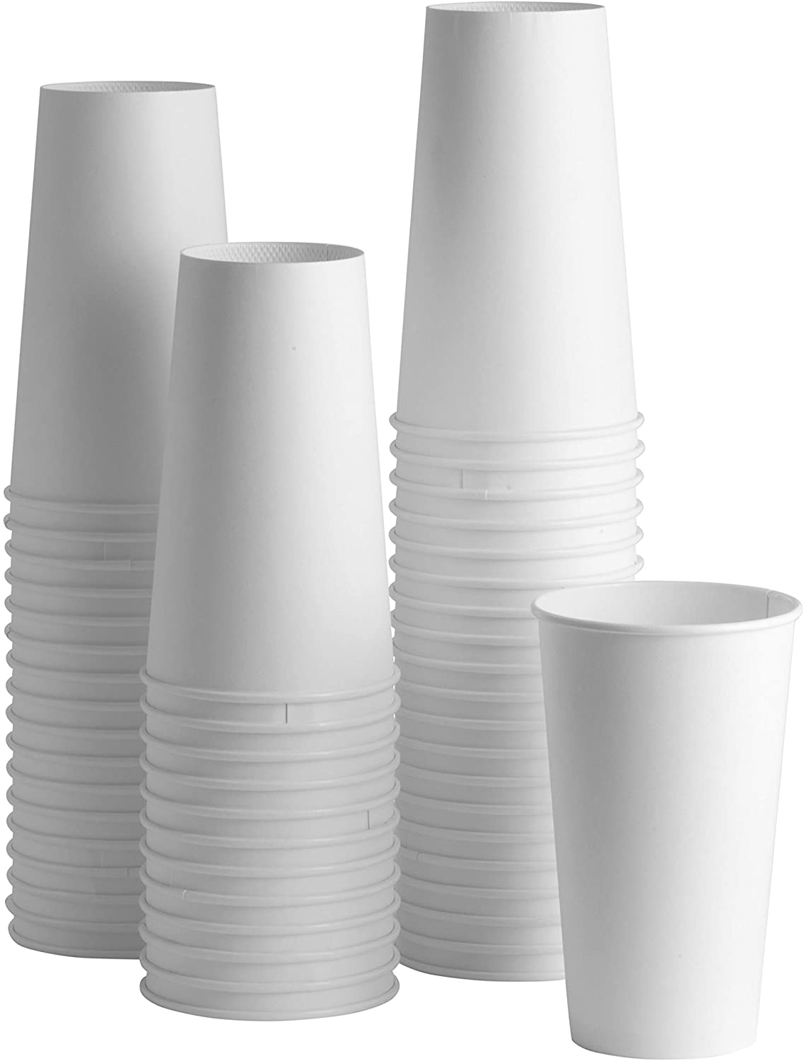 20 oz. White Paper Hot Cups [100 Pack] Coffee & Tea Cups