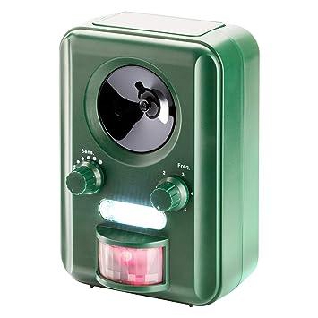 Sonic Repelente Ahuyentador de Gatos a Pilas, Ahuyentador de roedores, flash premium, energía solar, ultrasonido: Amazon.es: Jardín