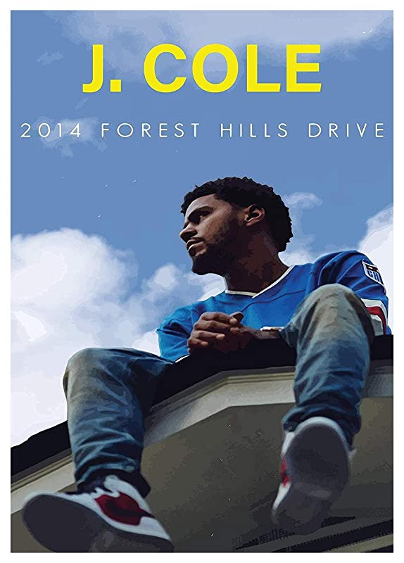 no frame J Cole Forest Hill Drive Print Poster gift fan Home Art Wall