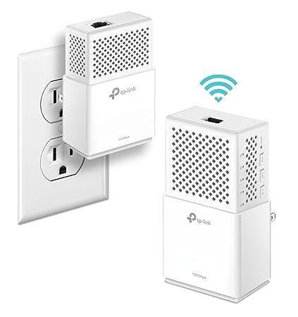 TP-Link TL-WPA7510 KIT AV1000 Powerline WiFi Extender, Powerline Adapter -  WiFi 750Mbps, Gigabit Port, Plug&Play, Power Saving