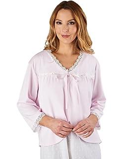 Slenderella HC1225 Women s Stripe Seersucker Blue Dressing Gown Loungewear  Bath Robe 3 4 Length Sleeve… EUR 54 542364f01