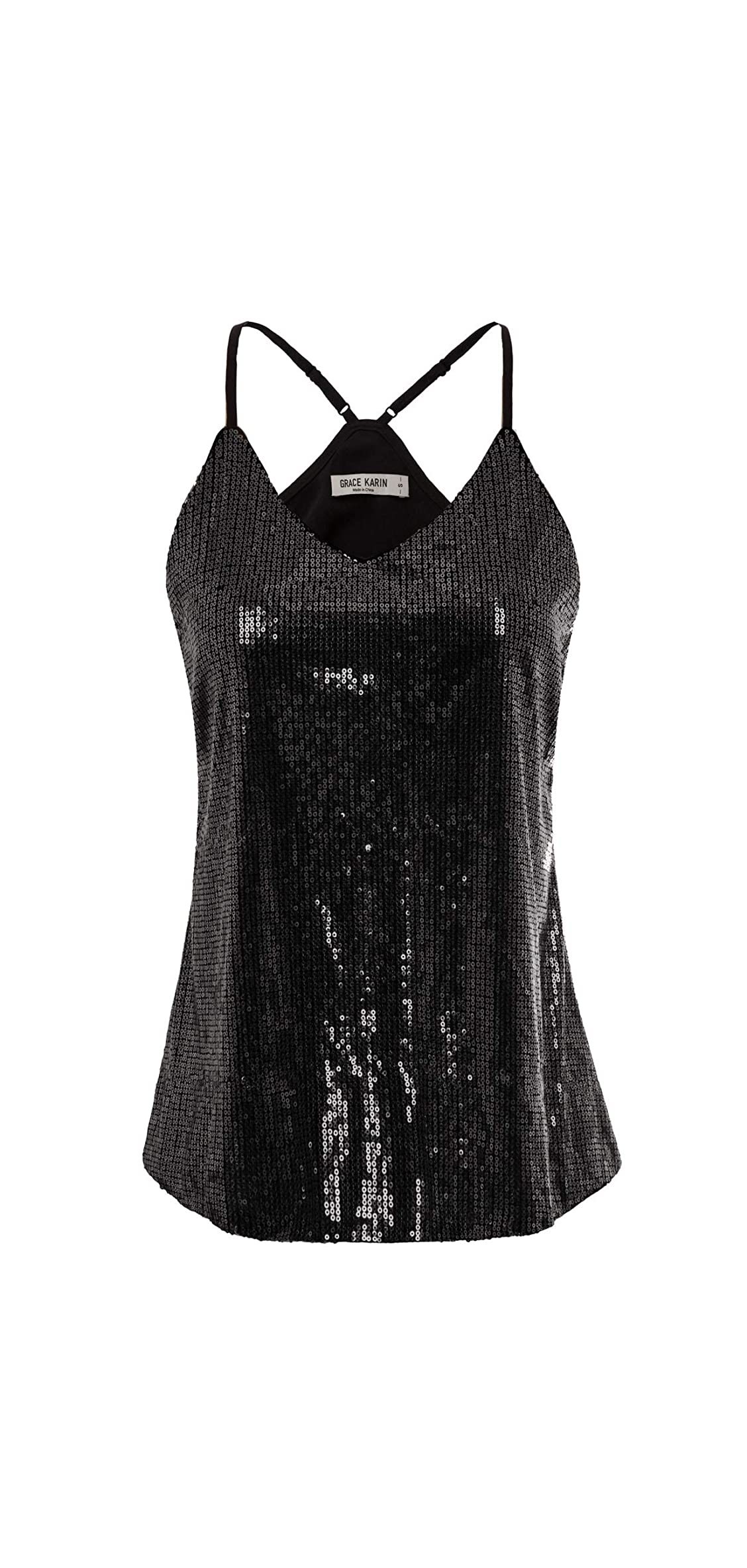 Women's Sleeveless Sparkle Shimmer Camisole Vest