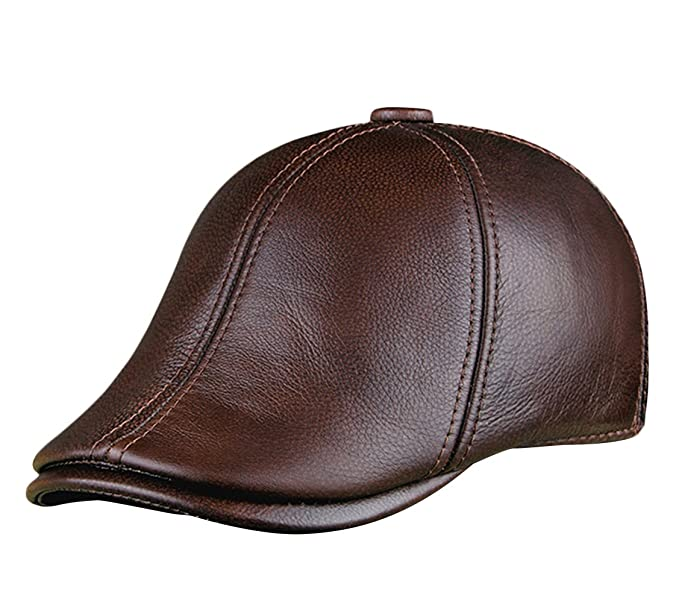 Insun Hombre Cuero Gorras de Béisbol Visera Casquillo Gorra Boina Sombreros: Amazon.es: Ropa y accesorios