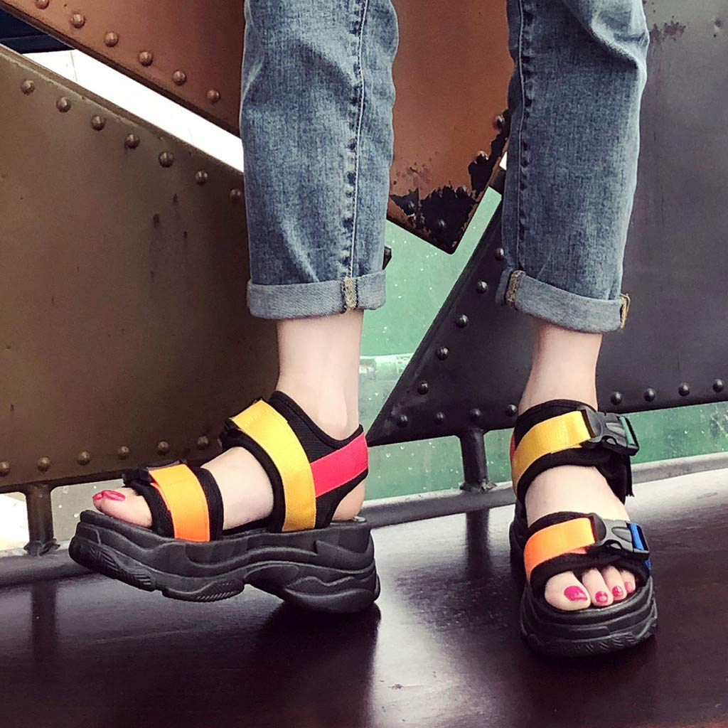 b2221ad60f846 Women Platform Sports Sandals Ladies Retro 90s Ugly Dad Chunky Athleisure  Casual Sandal Memela