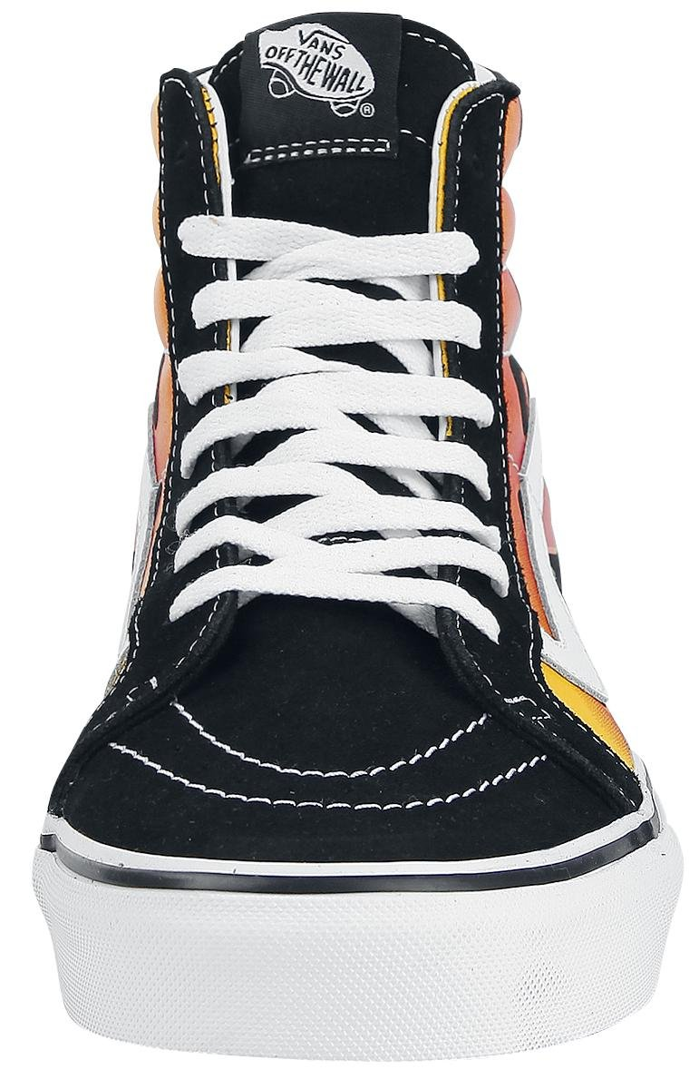 VANS LEATHER MENS SK8 HI REISSUE LEATHER VANS SHOES B01N3691HL 13 M US Women / 11.5 M US Men|Flame Black fc98d6