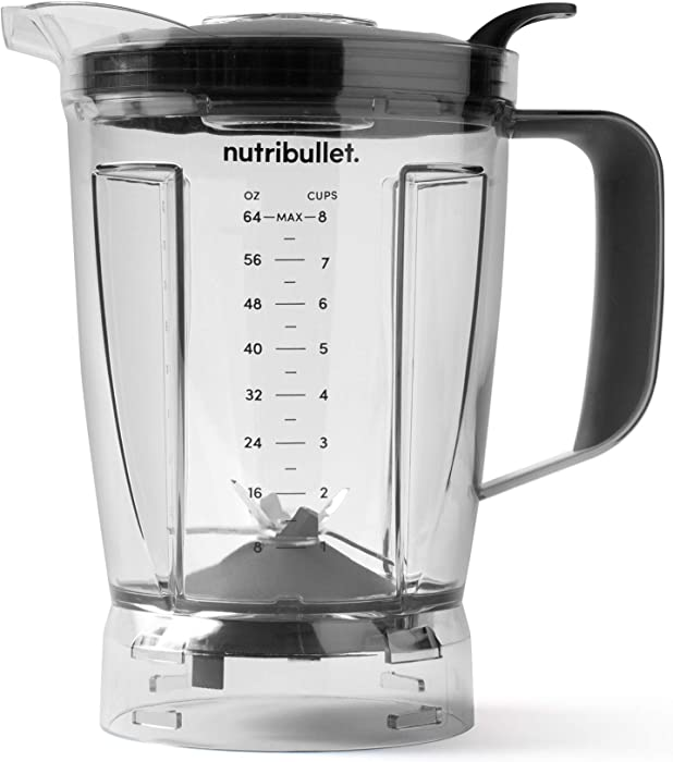 NutriBullet ANBFP64 Blender 64 oz Pitcher, Clear/black