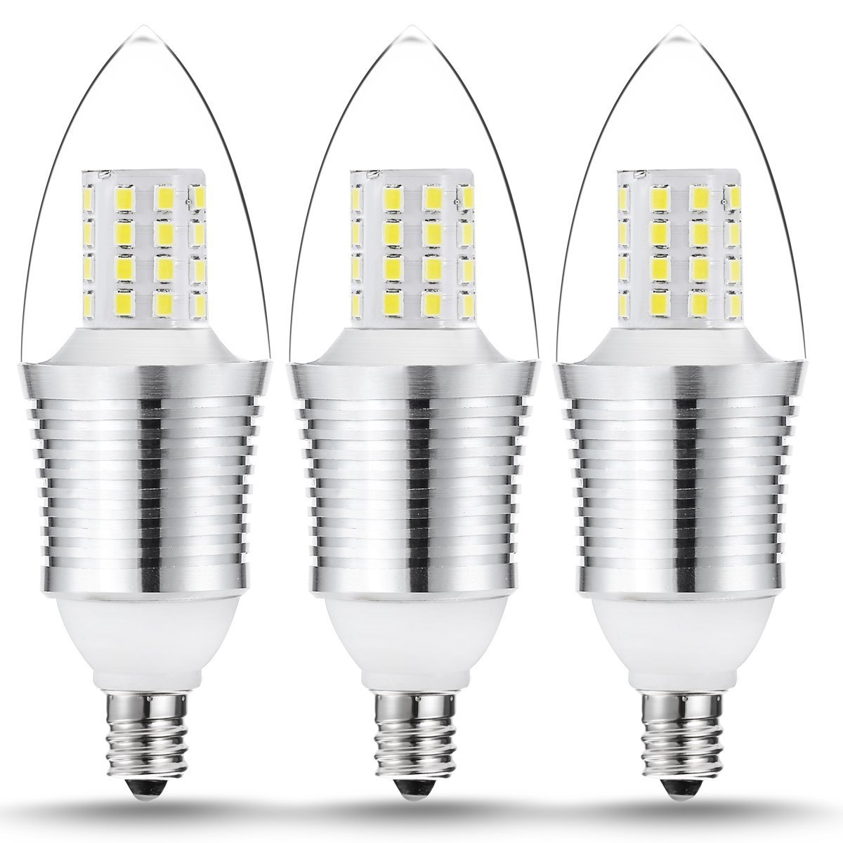 Free shipping 3 pack 9 watt led light bulbs crystal white glow free shipping 3 pack 9 watt led light bulbs crystal white glow 5000k arubaitofo Images
