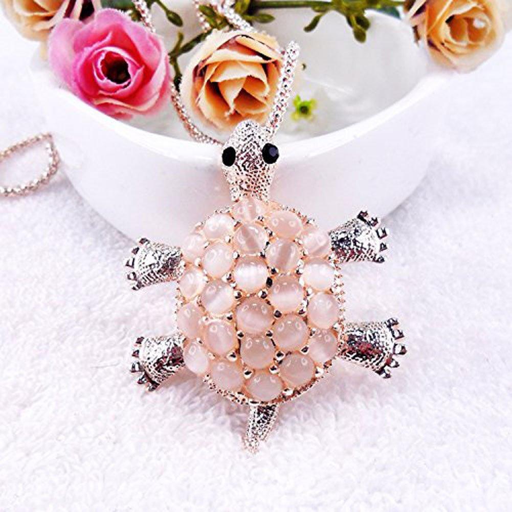 Superbes perles maïs chaîne avec opale or Adorable Collier Pendentif Tortue pour femme (1 pièce) Beautiful Bead