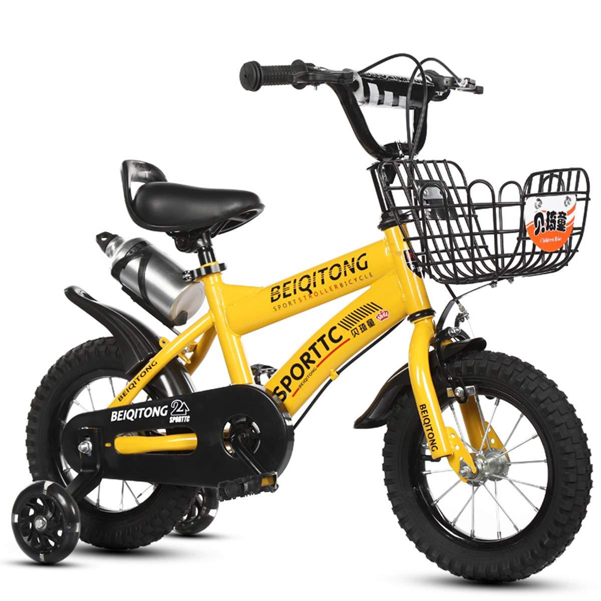 Bamarillo GRXXX Bicicletas de 6 Colors, 12 , 14 , 16 , 18  con estabilizadores, Botella de Agua y Soporte,Cblanco-12 Inches 12 inches