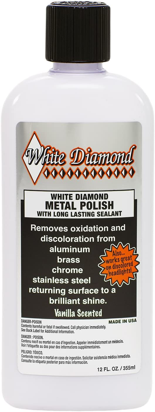 White Diamond Metal Polish with Long Lasting Sealant