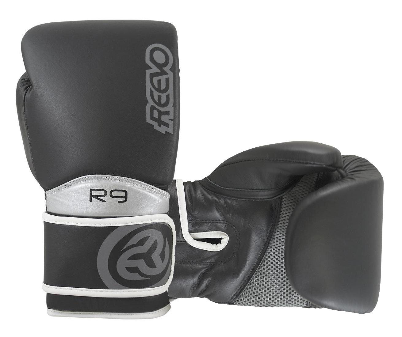 Reevo r9 V2 War Hammerのトレーニンググローブボクシングキックボクシングムエタイ総合格闘技 ブラック 12 oz