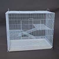 3 Tier Pet Cage for Cat Ferret Guinea Pig Hamster Rat Sugar Glider Chinchilla (Large)