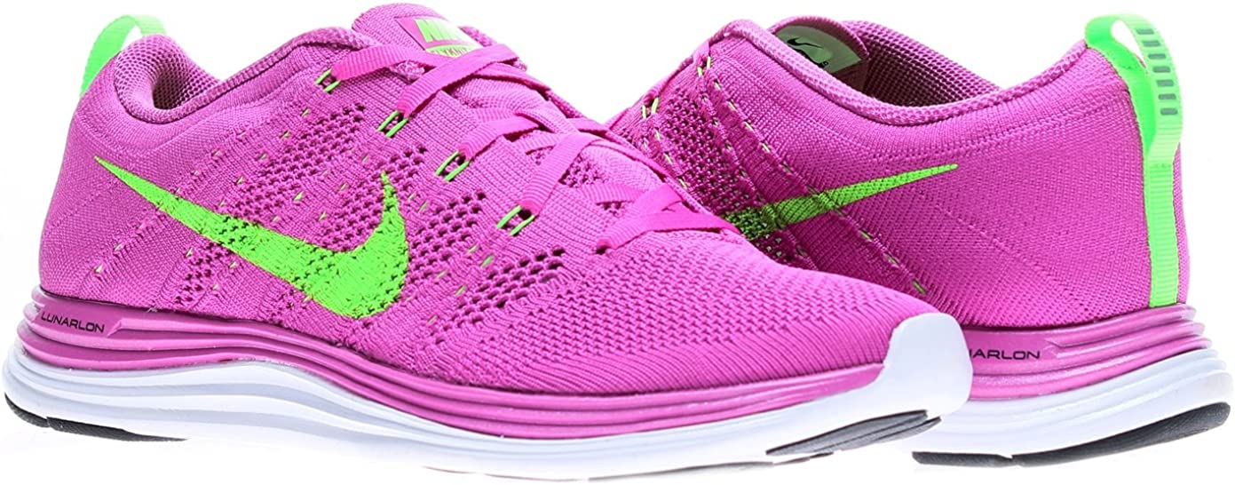 Nike Womens Flyknit Lunar1 Running Shoes 554888-631 Sz 9 Club Pink