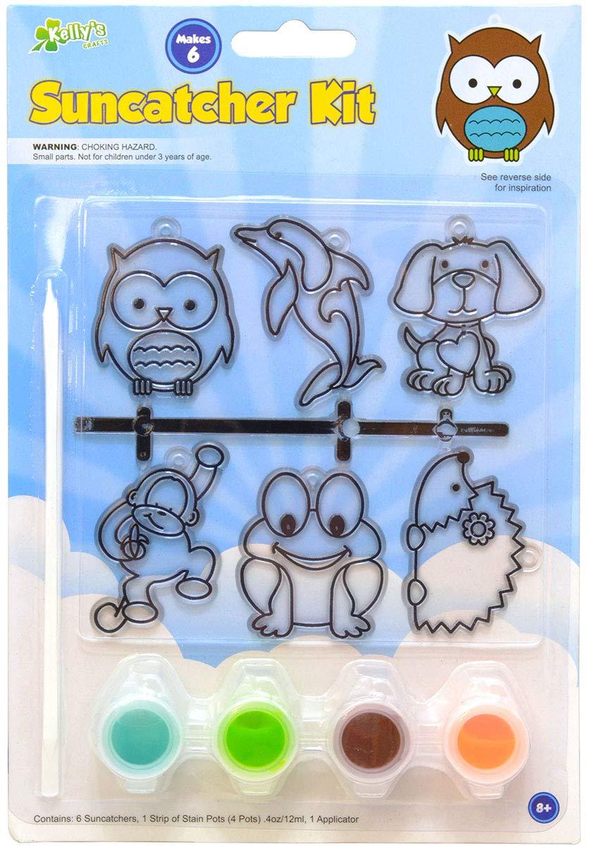 Kellys Crafts 6 Piece Suncatcher Kit - Animal Shapes The New Image Group