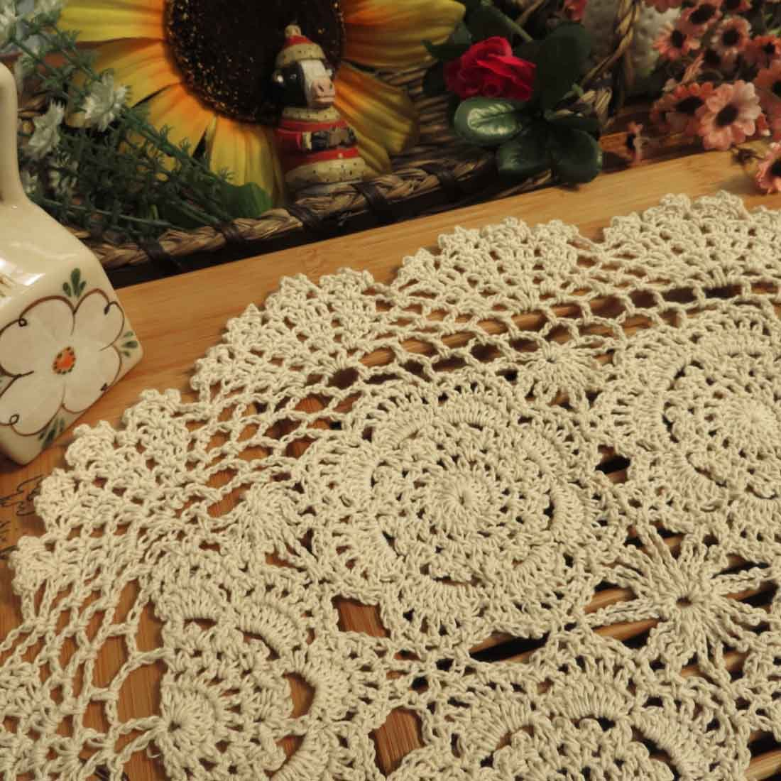 Amazon kilofly crochet cotton lace placemats doilies 4pc amazon kilofly crochet cotton lace placemats doilies 4pc oval beige 12 x 17 inch home kitchen bankloansurffo Image collections