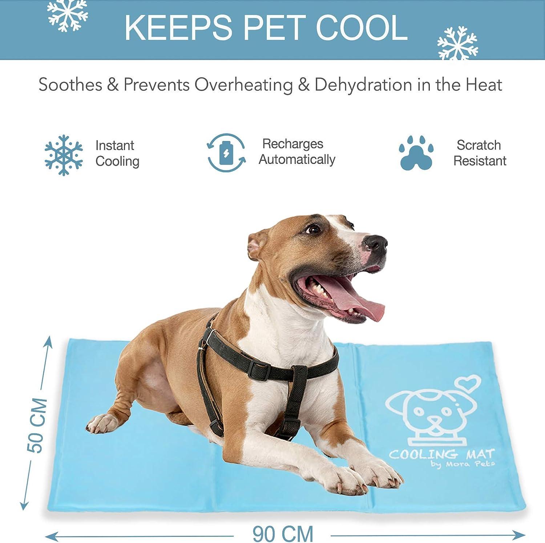 Alfombra de Enfriamiento para Mascotas Manta Refrescante Perro Gato Colchoneta Manta Fria para Perro Esterilla Auto Refrigerante 50x90cm