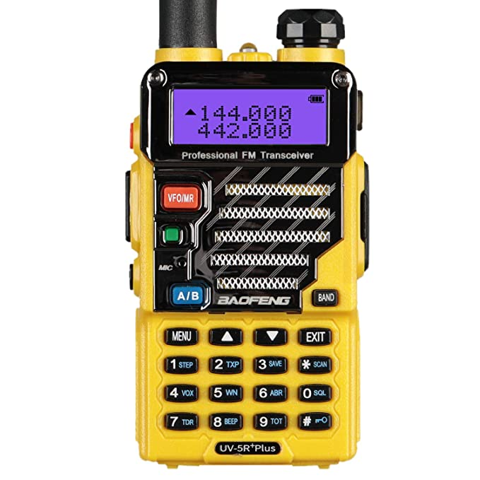 BaoFeng UV-5R Plus Qualette 5W Dual Band Two Way Radio Walkie Talkies (Imperial Yellow)