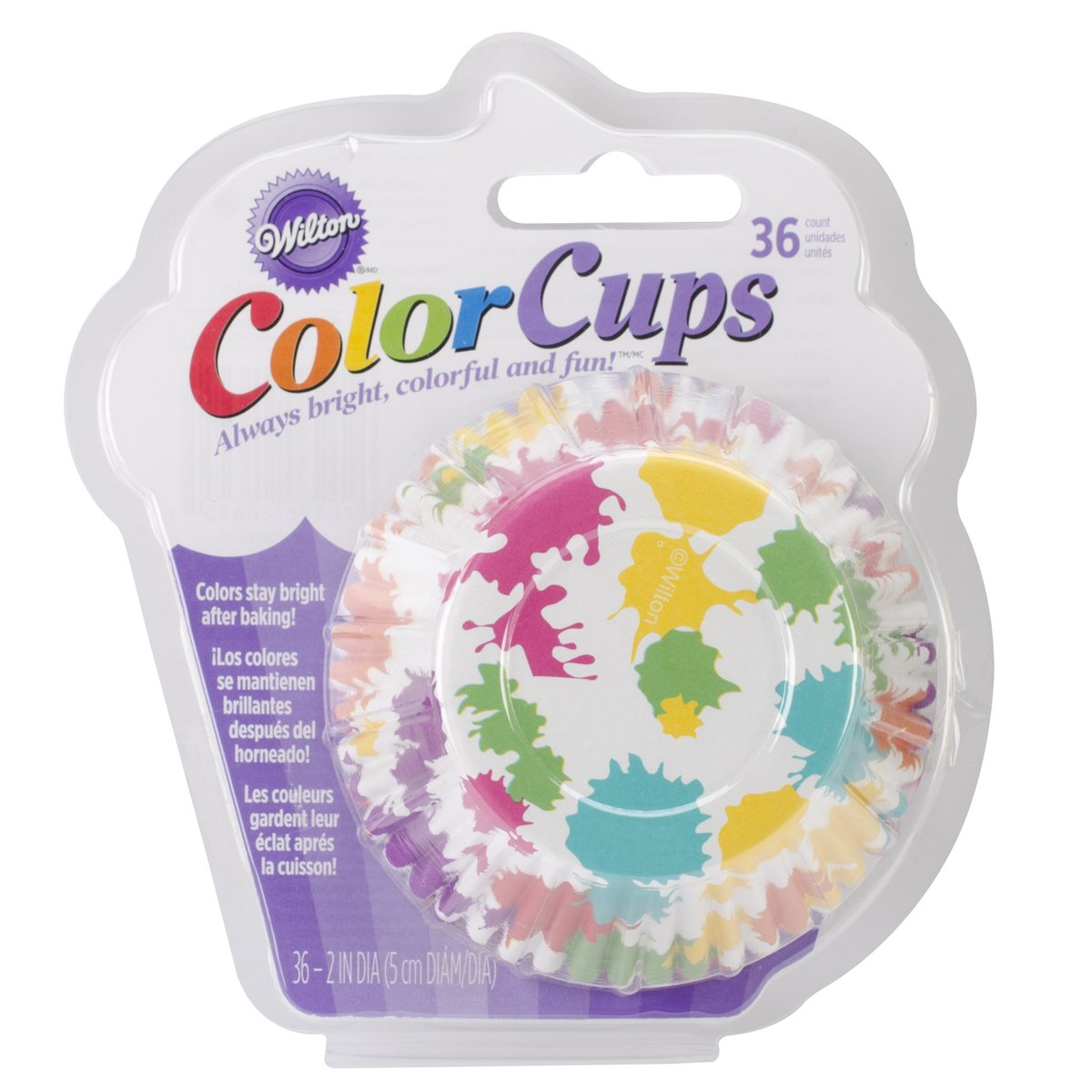 Wilton Rainbow Paint Party Baking Cases, Colour Cups, Standard, Pack of 36 415-0625