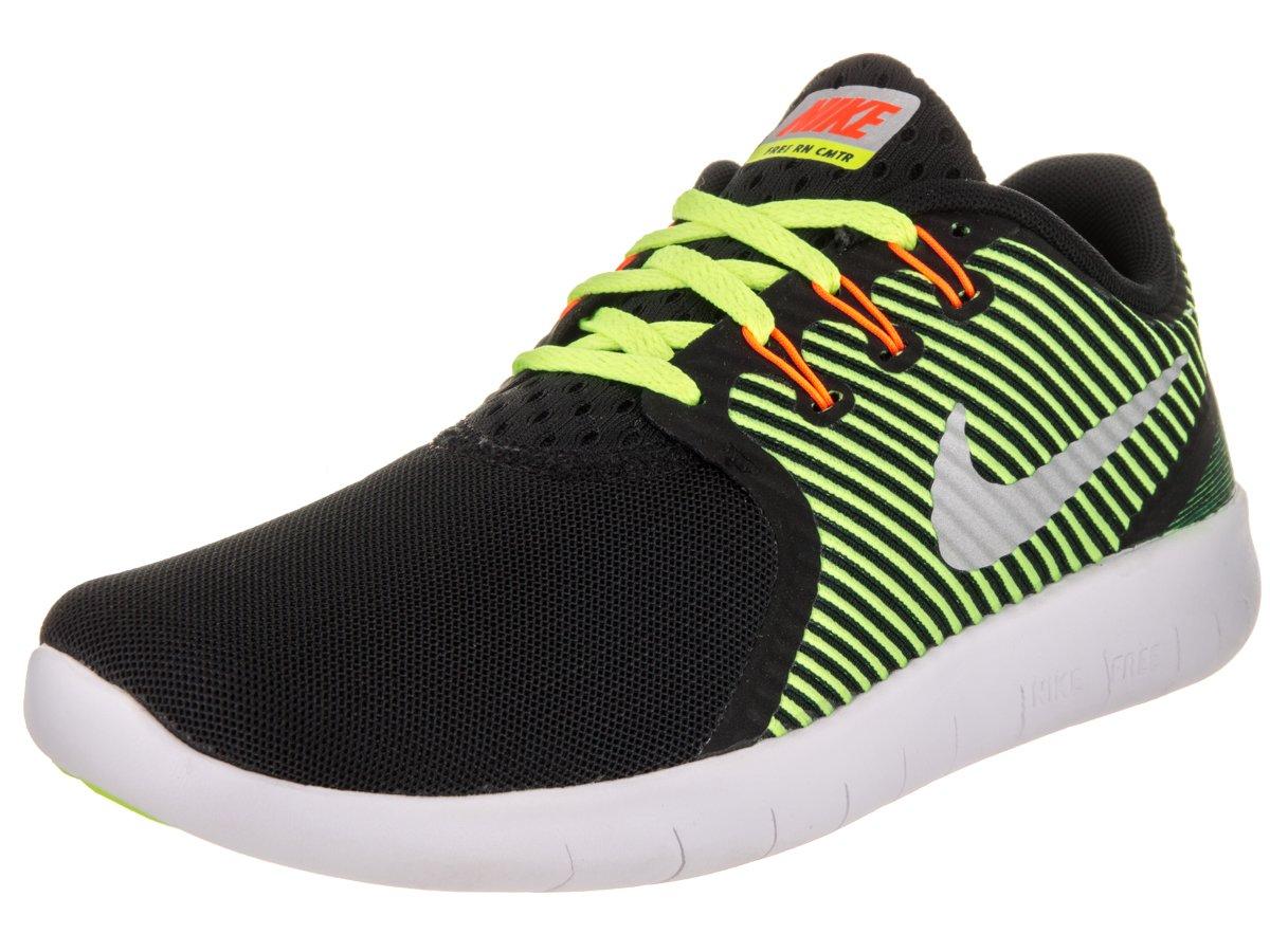 Nike Herren Free RN CMTR (GS) Laufschuhe  38.5 EU|Black (Black (Schwarz / Silber-metallic-volt-voll Orange))