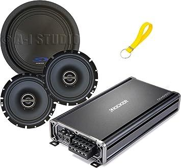 Conjunto de 3 artículos: Kicker 43 cxa600.5 CX Serie amplificador de 5 canales
