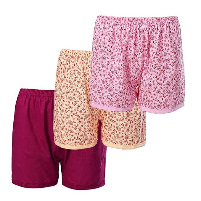 7192f519e7e Women's 3 Pack 100% Cotton Comfort Covered Waistband Boyshort Loose ...