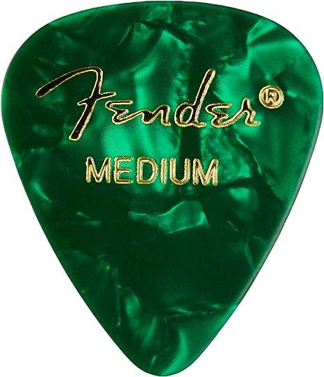 Fender 351 - Púas de celuloide clásicas medianas, 12 unidades ...