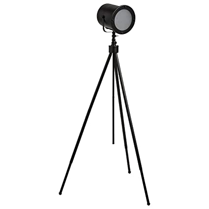 newest 883a9 cdfee Stone & Beam Vintage Industrial Spotlight Tripod Floor Lamp With LED Light  Bulb - 25.5 x 25.5 x 60 Inches, Black