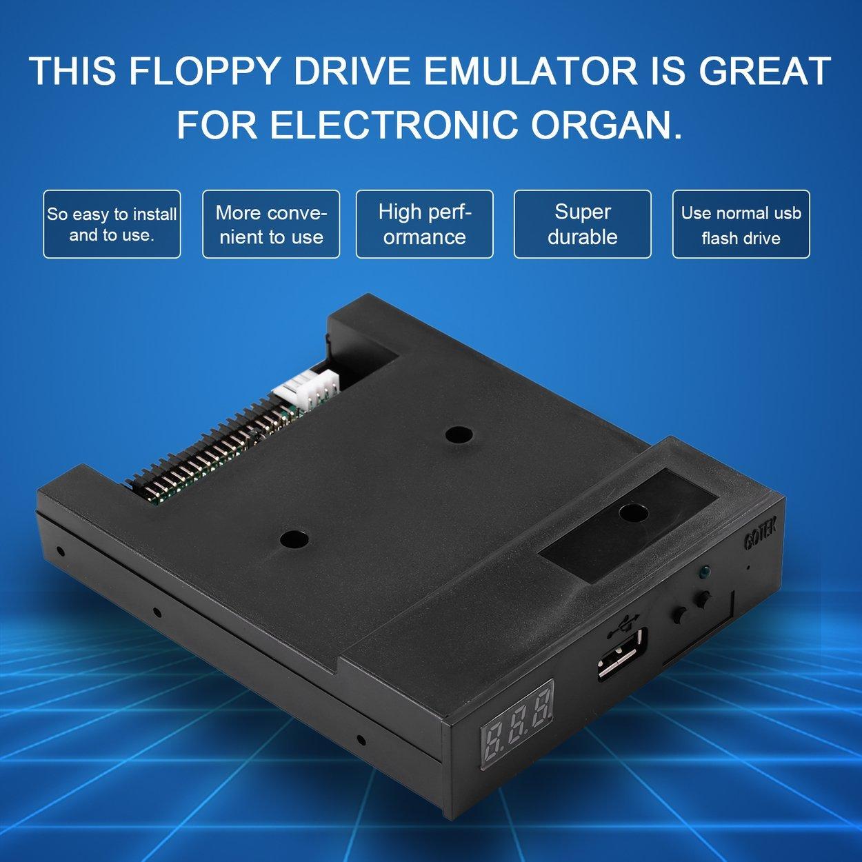 Lorenlli 5V 3.5 1.44MB 1000 Unidad de Disquete a emulador USB Simulación Conector Simple para Teclado Musical Negro: Amazon.es: Electrónica