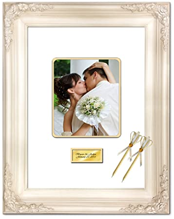 Amazon.com - Signature Mat Picture Frame White Inner Gold Matted ...