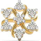 Myzevar Cubic Zirconia 18K Yellow Gold Plated Sterling Silver Nose Pin