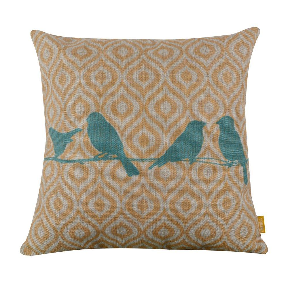 Amazon.com: Cotton Linen Decorative Throw Pillow Case Cushion ...