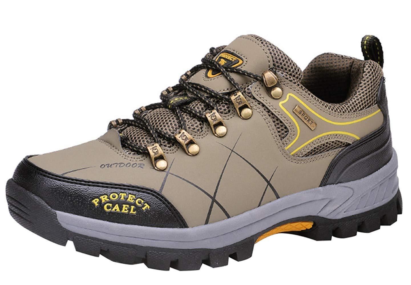Fuxitoggo Männer Wanderschuhe Stiefel Leder Wanderschuhe Turnschuhe Für Outdoor Trekking Training Beiläufige Arbeit (Farbe   9, Größe   43EU)