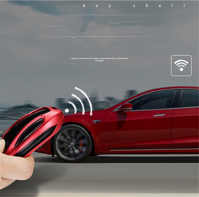 Amazon Com M Jvisun Key Covers For Car Keys Tesla Model S Remote