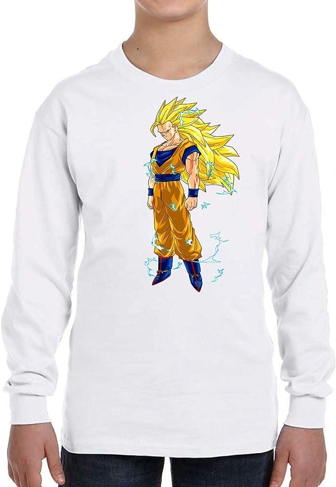 Camiseta Manga Larga de NIÑOS Dragon Ball Goku Vegeta Bolas de Dragon Super Saiyan 145 3-4 años: Amazon.es: Ropa y accesorios