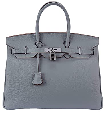 d5e097f44fe488 Women's Genuine Leather Padlock Handbags Ladies Top Handle Satchel Cross  Shoulder Handbags strap organizer Purse Tote