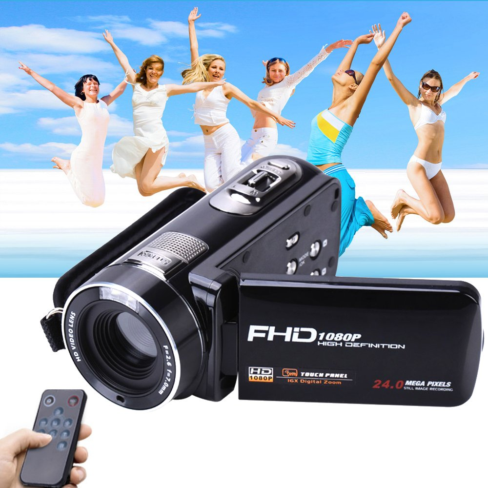 Camera Camcorder with IR Night Vision, Weton 3.0 inch LCD Touch Screen Digital Video Camera Full HD 1080p 24.0MP Pixels 18x Digital Zoom Mini DV with Remote Control (Two Batteries included) by Weton (Image #2)