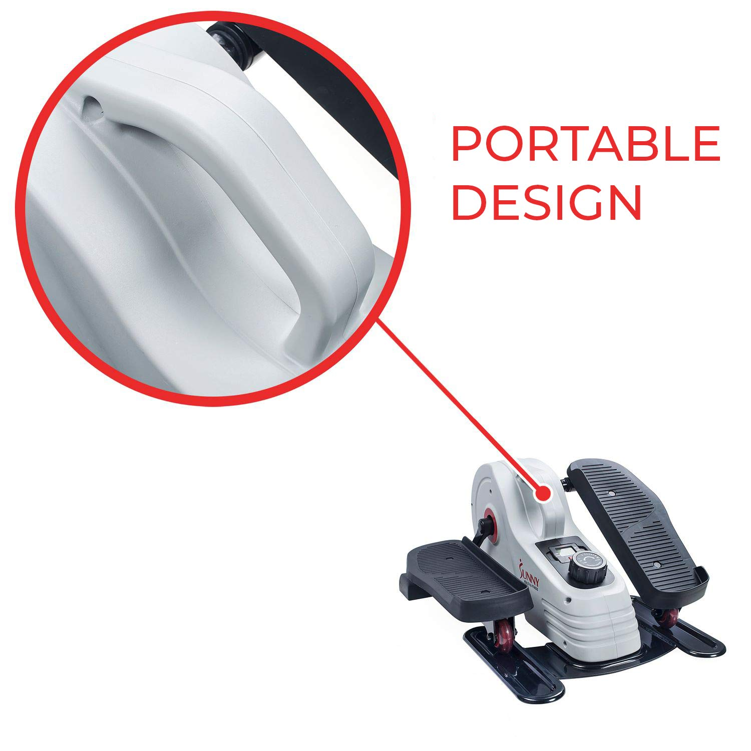Sunny Health & Fitness Fully Assembled Magnetic Under Desk Elliptical - SF-E3872 by Sunny Health & Fitness (Image #7)