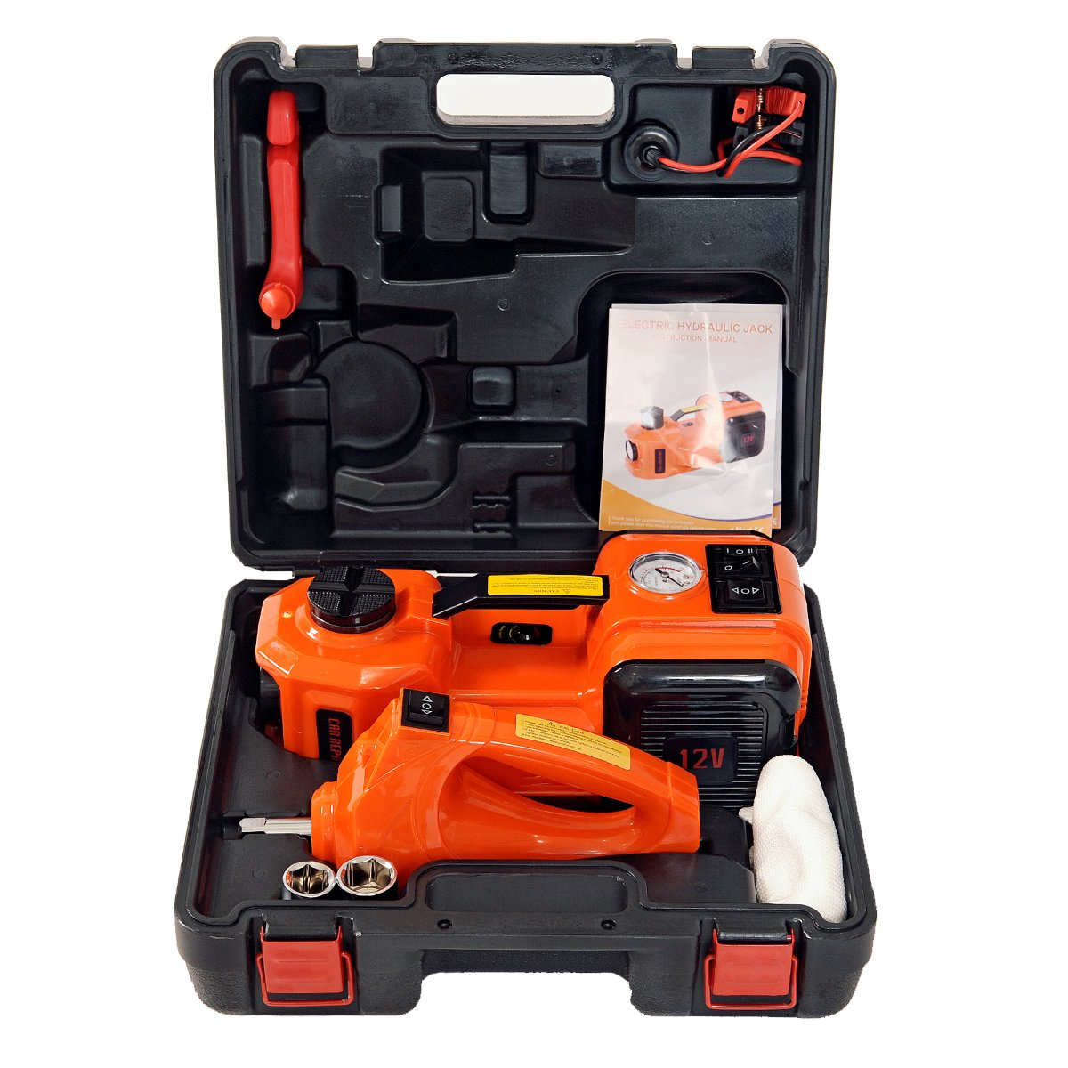 Marchinn 12v Dc 50t11000lb Electric Hydraulic Floor Telephone Wiring Tool Moreover Work Punch Down Extension Jack And Tire Inflator Pump Led Flashlight 3 In 1 Set With Impact Wrench Car Repair Kit Automotive