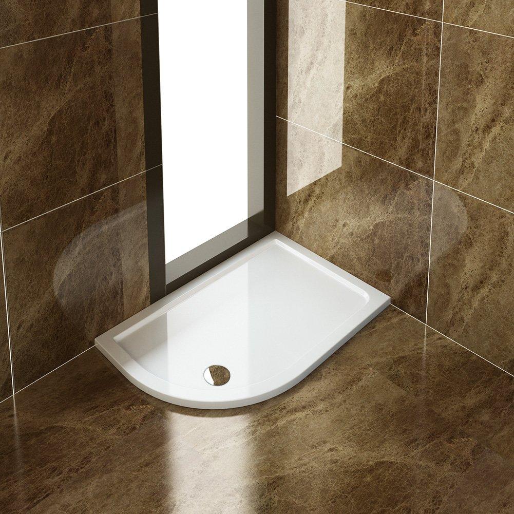 ELEGANT 900x900mm Quadrant Shower Enclosure Tray + Waste MX