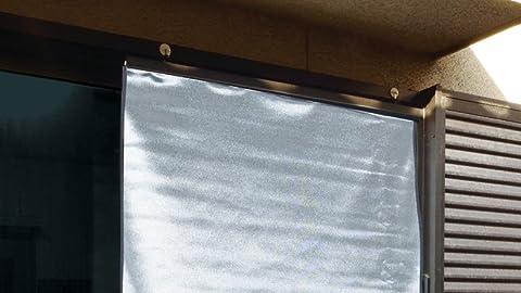 【部屋の中が見えにくい目隠し効果、部屋からはスッキリ見える】 日本製 遮光 遮熱メッシュシェード 【90×120cm】 ギラツキがない 遮熱率30% 簡単取付 日射熱をカット