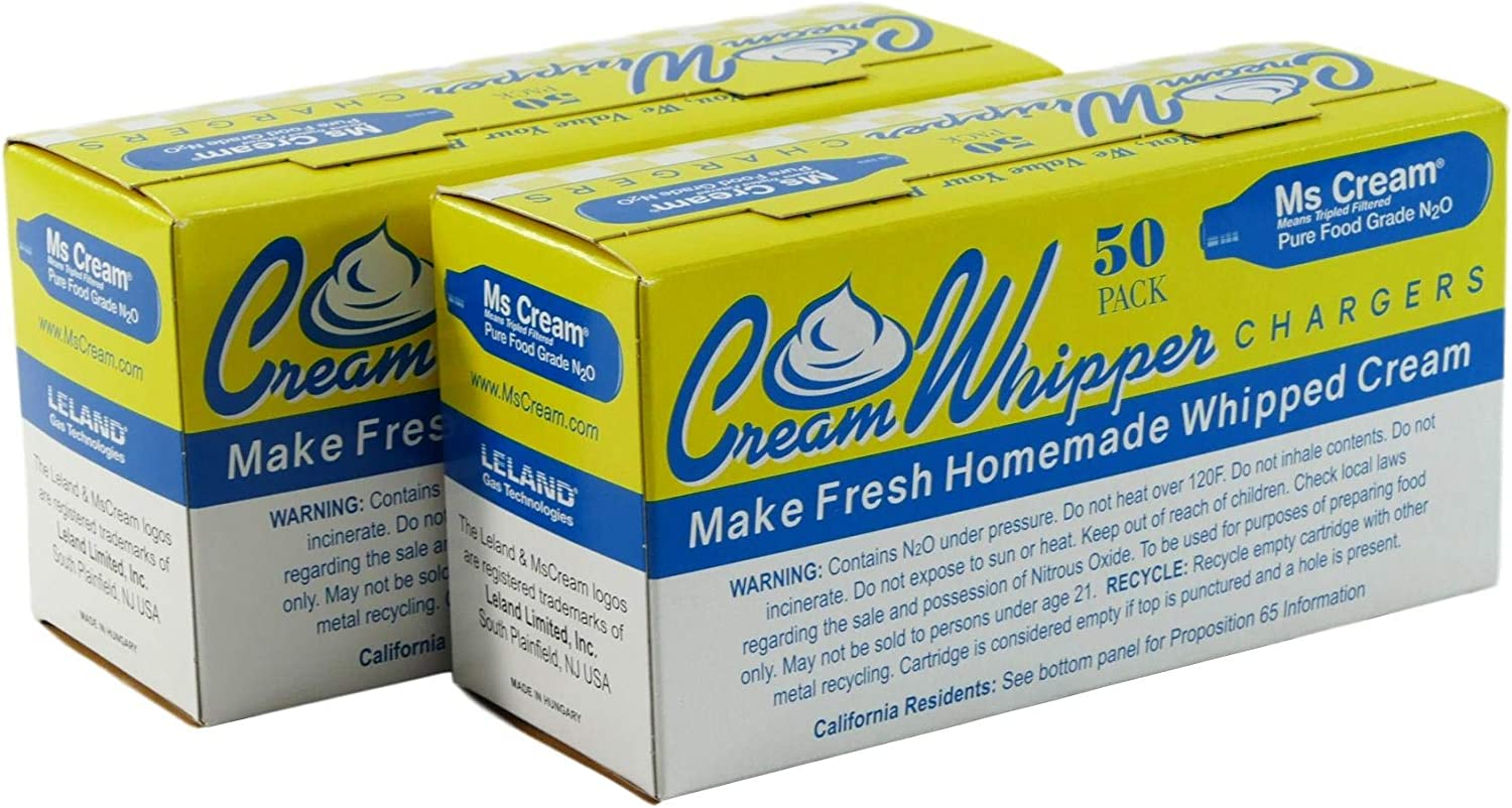 Ms Cream N2O Whipped Cream Chargers in 50 Count