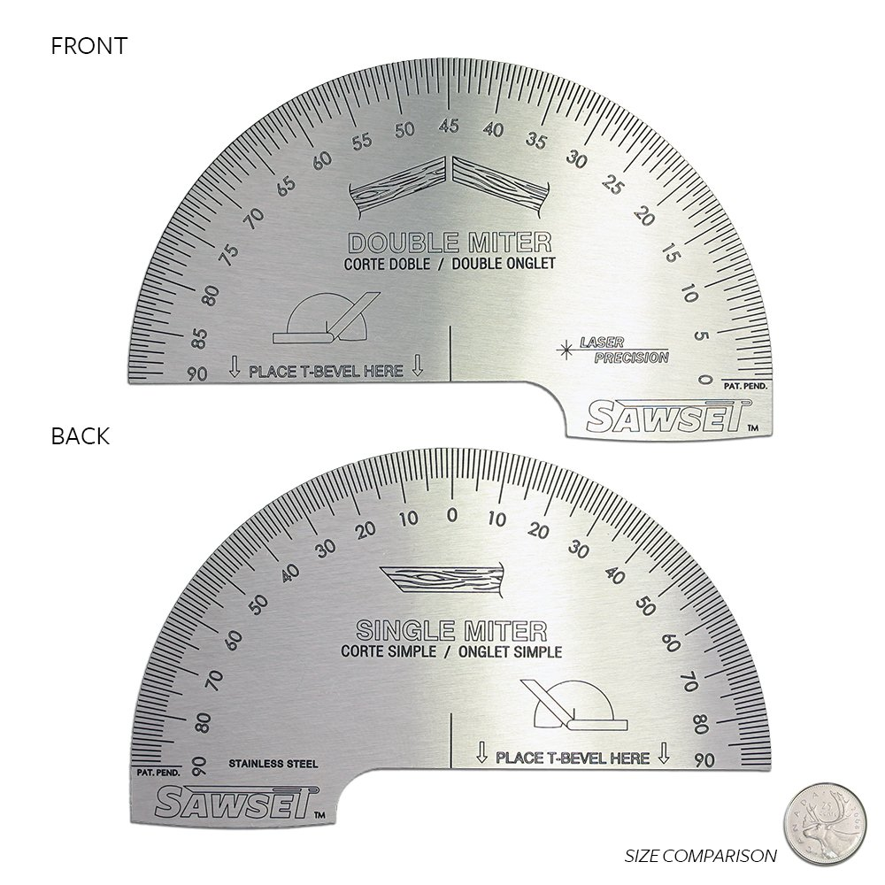 Sawset: The Miter Saw Protractor. Reinvented to Eliminate Math! Designed by Carpenters for Carpenters. by Sawset (Image #2)