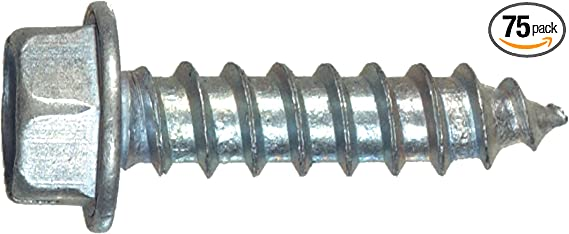 The Hillman Sheet Metal Screws GroupThe 35263 Hex Washer Head White 7 1//2 for sale online