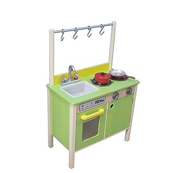 Teamson Kinder Holz Küche grün und gelb: Amazon.de: Spielzeug