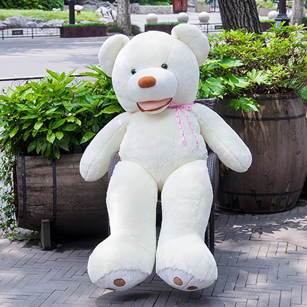 VERCART White Giant Huge Cute Cuddly Stuffed Animals Plush Gaint Teddy Bear Toy Doll (51 Inches) by VERCART