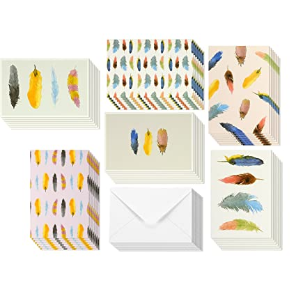 Amazon 48 pack all occasion assorted blank note cards greeting 48 pack all occasion assorted blank note cards greeting card bulk box set colorful watercolor m4hsunfo